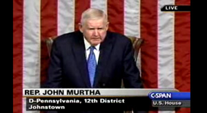 Rep. Jack Murtha presides, ignores reality to push through his preferences without a vote.
