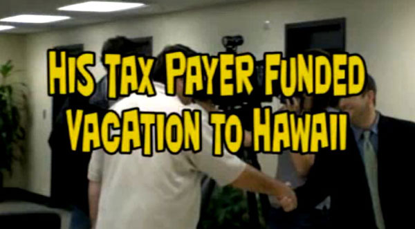 David Gantt, WNC Buncomb County Democrat commissioner justifies his trip to Hawaii, Gantt trying to get tax payers to pay for his trip that used his own frequent flier miles.  Gantt said he would officially look into it.  (You can't make this stuff up!)