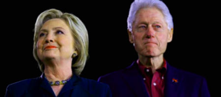 Hail Caesar.  Stunning photo showing the dangerous arrogance of the Clintons, as Hillary says Bill's activities not as bad as that pushed upon Judge Cavanaugh.  Seriouisly! - Webmaster