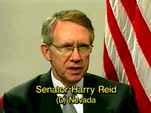 Jan Helfeld interviews Senator Harry Reid about redistributive taxes. Reid maintains redistributive taxes are not a problem because people are not forced to pay taxes. He says taxation is voluntary, or didn't you know?