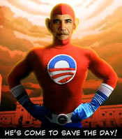 "OMG, it's the leader of the collective, the Democrats pseudo-Communist the media just slobbers over.  It's Barack, the savior of the day, Newsweeks' intellectual progressive publisher calling him ""a GOD!"""