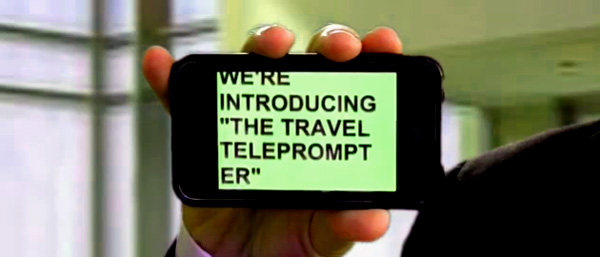 Rick Sanchez, Dr. Laura and Helen Thomas take note: Carry the Travel Teleprompter for all your foot-in-mouth needs.