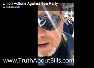 "Tea Party member, Andrew, tells The Blaze that he was there to speak at a press conference in support of controversial anti-union bill SB5. While ""walking around just viewing the union members protest to the Gov. State of the State Address,"" he says he was confronted by the man in the video."